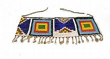 A Glass Bead and Cowrie Shell Kirdi Apron Skirt