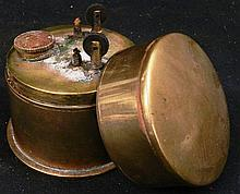 A 20th century japanese brass trunk lighter with two wicks
