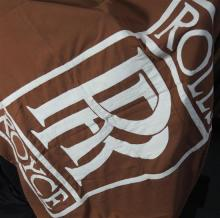 A large Rolls-Royce flag in good condition