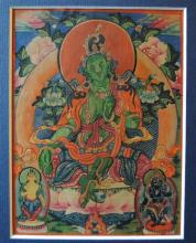 A Set of Eight large size Miniature Mongolian Thangka Paintings, 19/20th Century, [8],