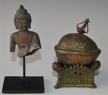 Two Old Bronzes, Mongolia, 18/19th Century, [2],