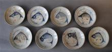 Eight Chinese Ming Export Ware Porcelain Plates, [8],