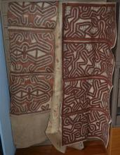 Three Large Tapa Cloth Paintings, Oro Province PNG, [3],