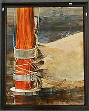 Peter Chesney The Base of the Mast Oil on board