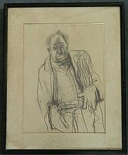 Halliday Untitled, Portrait 1975 Pencil