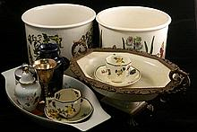 A collection of ceramics including Port Merion, Royal Dalton, KPM and Royal Worcester