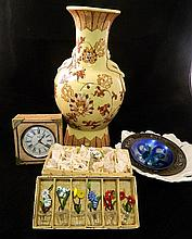 Collection of ceramics, Gucci clock, glass etc.