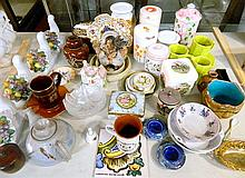 A quantity of ceramics and glassware, including antique