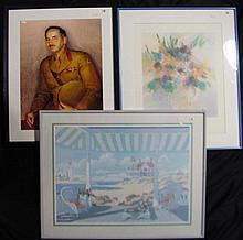 † After: Murray Griffin, Weary Dunlop + Dan Partouche, Still Life + Unknown, Hamptons Scene offset prints (3)