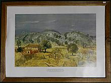 After Lloyd Rees, In the Hills Molong, print, framed