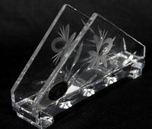 A Bohemia Glass Napkin Holder