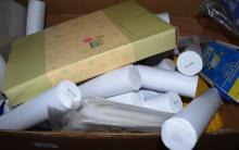 A box of assorted stationery