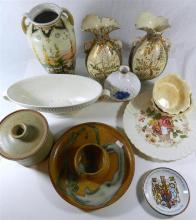 A collection of ceramics, including Wedgwood