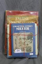 A collection of reference books on antique silver, gold, glassware and ivory