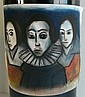 Robert Henry Dickerson (b.1928) Three Faces (including 6 litres, Hope Estate Cabernet Merlot 1998, Hunter Valley) Pastel & charcoal...