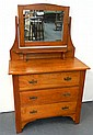 An Edwardian three drawer Beard Watson cedar dresser