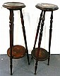A matched pair of early 20th century stands