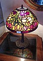A Tiffany Style Leadlight Table Lampe Tulip Design 60cm