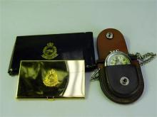 Hong Kong Police Cigarette Case and Pocket Watch, [2],