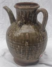 A Chinese Celadon Glaze Ewer, Ming Dynasty or earlier
