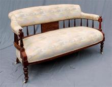 A Federation spindle back parlour settee