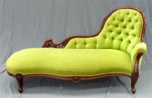 A Victorian chaise lounge