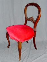A single balloon back chair with cabriolle legs