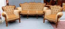 A three seater Italianate lounge and two matching arm chairs