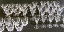 A collection of 'Sheila' pattern Waterford crystal glasses