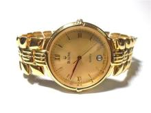 A Gentleman's Gold Plate Bulova Wrist Watch