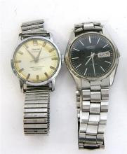 Two Gentleman's Stainless Steel Watches including a Seiko Automatic and a J Farren Price