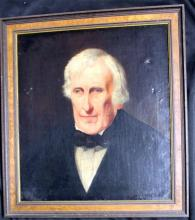 American School (19th Century) Portrait of A Gentleman Oil on canvas