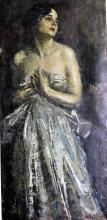 Hungarian School (20th Century) Portrait of a Woman in Evening Dress Oil on canvas