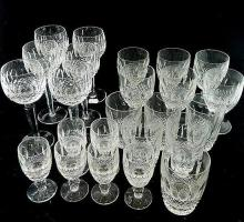 A suit of twenty four Waterford crystal 'Colleen' glasses