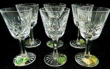 A set of six Waterford crystal 'Lismore' liquor glasses