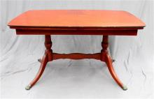 A 1950's Queen Anne style dining table and four chairs