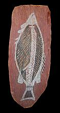 A Bark Painting, Artist Unknown (Fish),