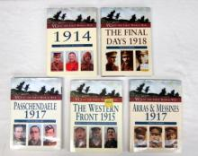 Five books pertaining to VCs of the First World War