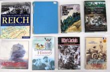 Eight books pertaining to the rise of Hitler's third reich and the German army