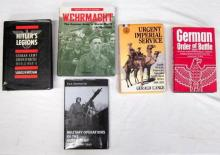 Five books pertaining to the German army in World War Two and military operations of the Dutch army