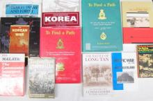 Eleven books pertaining to The Korean War