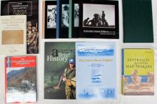 Eleven books pertaining to Australia's Military Map-Makers and The Northern Territory in the Defence of Australia