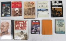 Ten book pertaining to Battle for the Bundu, Duel for Kilimanjaro and Cannon Fodder