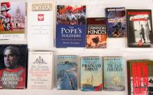 Thirteen books pertaining to Popes Cardinals and War and The Pope's Soldiers
