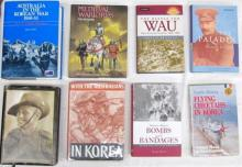 Eight books pertaining to Australia in the Korean War 1950-53 and Medieval Warlords