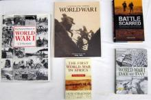 Five books pertaining to World War One