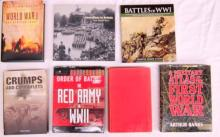 Seven books pertaining to World War One and The Red Army