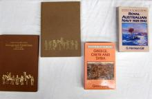 Four books pertaining to Greece, Crete and Syria and the Royal Australian Navy 1939-1942