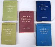 Five books pertaining to the Government and The People, Clinical Problems of War, Royal Australian Navy and Air Force