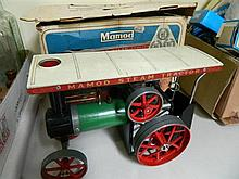 A Mamod model steam engine tractor